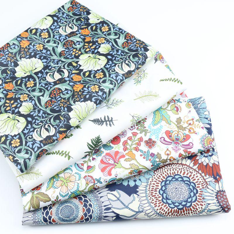 Blue Des 26 Floral 100/% Cotton Prints Dress Craft Fabric 160cm Wide quilting