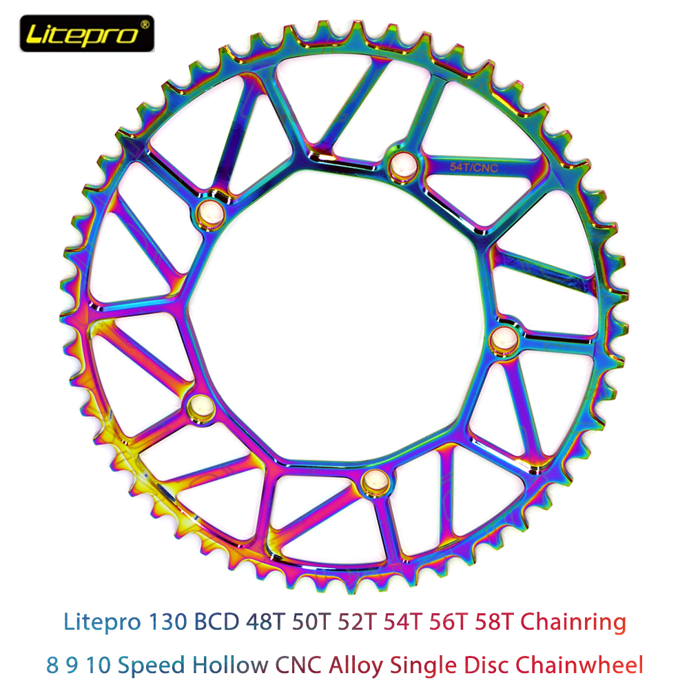 Single Chainring 130 BCD Bike Chain Ring Narrow Wide 9 10 11 Speed Folding