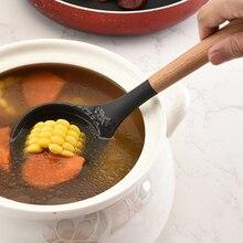 Силиконовые кухонные принадлежности набор антипригарная кухонная лопатка Ложка деревянная ручка инструмент для приготовления пищи шпатель гаджеты для кухни посуда набор AI