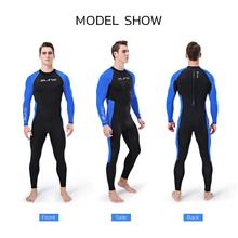 цена на Full-body Men Wetsuit Surfing Swimming Longsleeve Nylon With Unique Headgear Wetsuit Sportswear For Scuba Diving