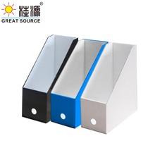 Foldaway File Holder Colorful Newspaper Box Desk Top Organizer Magazine Bookend Corrugated File Holder Office Stationery(10PCS)