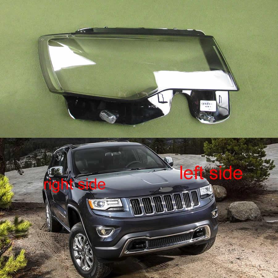 Paralume Del Faro Coperchio Della Lampada In Vetro Borsette lente Copertura Del Faro Borsette Per Jeep Grand Cherokee 2014 2015 2016 2017 2018 2019