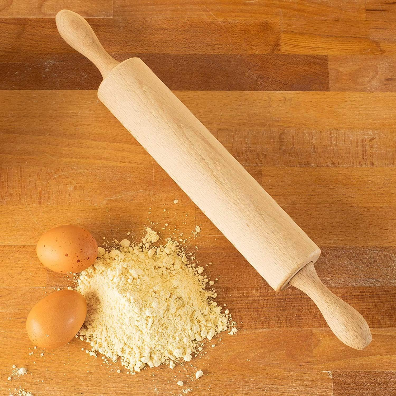 13 Inch Solid Wooden Rolling Pin Rolling Pin For Dough For Pizza Cake And Biscuits Rolling Pin Kitchen Tools