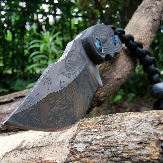 Cuchillo con mango 57HRC G10 hoja recta forjada de alta dureza Bueno para caza Camping supervivencia al aire libre y llevar todos los días