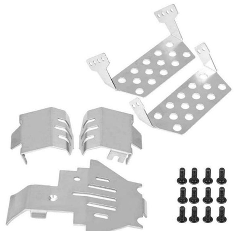 RC Car TRX4 TRX-4 Bumper Chassis Armor Protection Skid Plate For Traxxass 82056-4 Defender Option Upgrade Parts