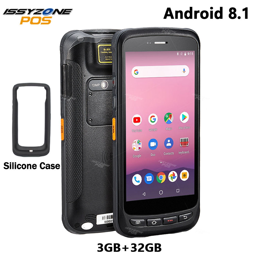 ISSYZONEPOS Android 8.1 Handheld PDA 5.2 inch Rugged Industrial Terminal PDA 2D Barcode Scanner 3G RAM 32G ROM Data collector