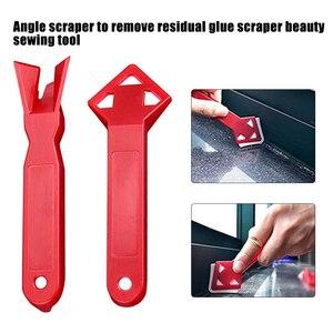 2Pcs/Set Plastic Glass Cement Scraper Tool Caulking Sealant Finishing Grout Floor Cleaning Tile Dirt Tool Spatula Glue Shovel