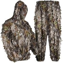 3d bionic maple leaf caça biônico ghillie terno camuflagem sniper birdwatch roupas airsoft tático caça roupas