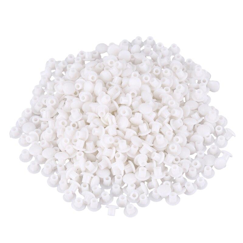 Plastic Furniture, White, 5 Mm, Drilling Plugs Set Of Rose Petals