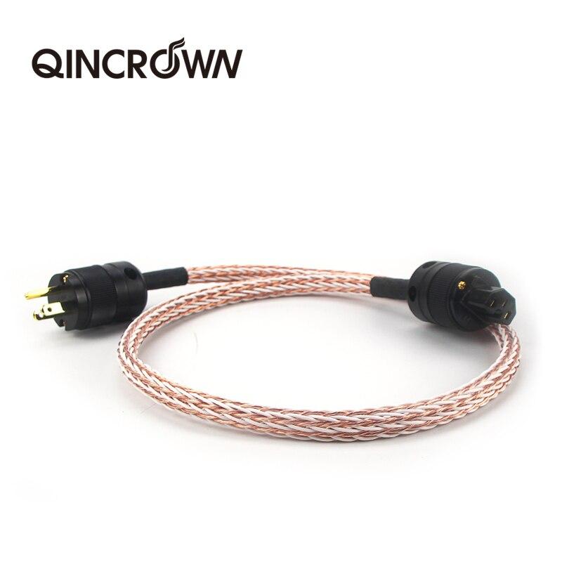 Câble d'alimentation HIFI 12TC haute qualité 6N OCC cordon d'alimentation Hifi avec prise américaine pour amplificateur DVD muplaimedia