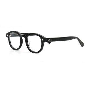 Image 3 - SPEIKE Tùy Chỉnh Thời Trang Mới Lemtosh Johnny Depp phong cách kính mắt AAAAA + chất lượng Vintage tròn quang gọng kính đơn thuốc ống kính