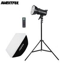 Godox SL 60W 5600 k led luz de vídeo versão branca luz de vídeo contínua kit + 190cm suporte de luz 60x90cm bowens softbox
