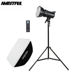 Image 1 - Godox SL 60W 5600K LED Video Light White Version Video Light Continuous Light Kit + 190cm Light Stand + 60x90cm Bowens Softbox