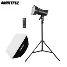 Godox SL 60W 5600K LED lumière vidéo Version blanche lumière vidéo Kit de lumière continue + 190cm support de lumière + 60x90cm Bowens Softbox