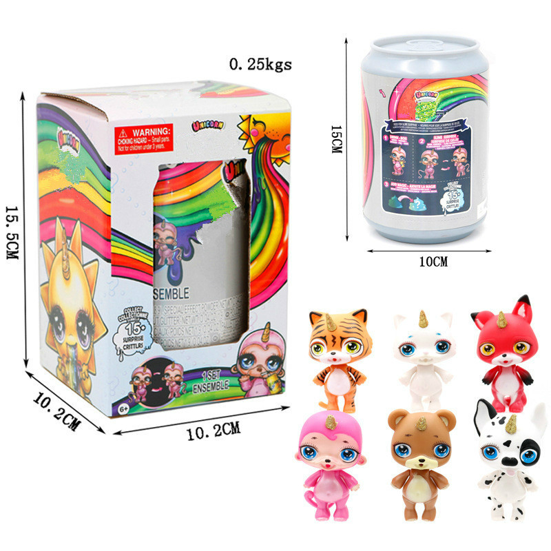 Surprise Toys Decompression Unicorn Soft Clay Doll Shiny Rainbow Crystal Mud Rocking Childrens Compressible Kid Toys