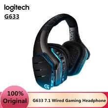 Logitech – casque de jeu avec fil et Microphone, avec réduction du bruit, pour Gamer, G633 7.1