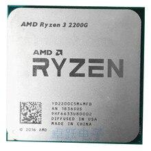 R3 2200G RYZEN 3 2200G 3.5 GHz Quad Core מעבד מעבד YD2200C5M4MFB שקע AM4 עבודה 100%