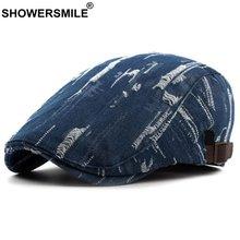 Showersmile джинсовый берет шляпа для мужчин джинсы винтажные