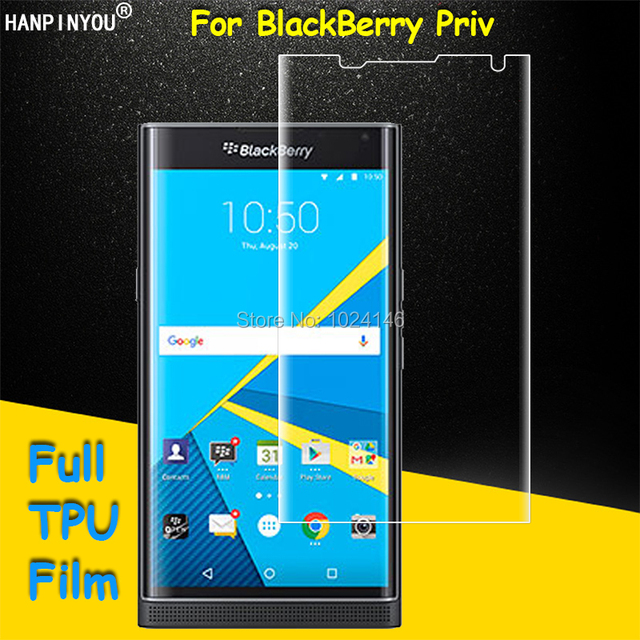 "Front Full Coverage Clear Soft TPU Film Screen Protector For BlackBerry Priv 5.4"" , Cover Curved Parts (Not Glass)"