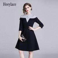 autumn Stripes Princess Women Dress Vetement Femme 2019 Ladies Tshirt Gothic Dress Robe Moulante Dames Jurken