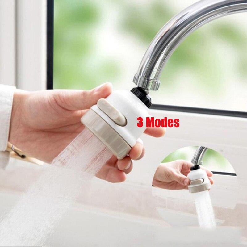 Multi-function 3 Modes Faucet Aerator Flexible Water Saving Filter Sprayer 360 Rotatable Tap Diffuser Aerator Faucet Bubble