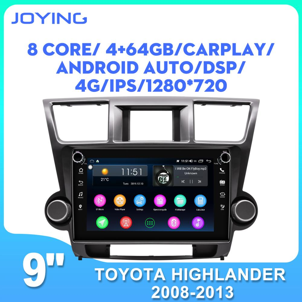 Android 8.1 car radio 9 inch IPS screen head unit support fast boot/rear view camera for <font><b>Toyota</b></font> <font><b>Highlander</b></font> 2008-<font><b>2013</b></font> GPS BT image