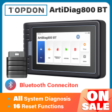 TOPDON ArtiDiag800 BT Car Diagnostic Tool Automotive Scanner Auto Scan Tools Diagnost Tools Bluetooth All System PK MK808BT