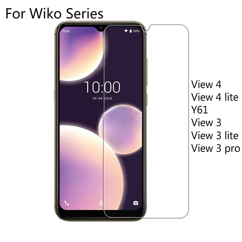 2 Pieces Tempered Glass Case for Wiko View 4 Lite View 4 Y61 Screen Protector For Wiko View 3 Lite P
