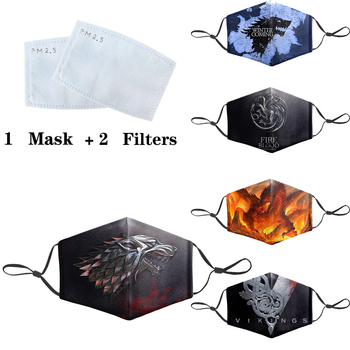 Game Of Thrones Mask Cartoon 3D Masks Protective PM2.5 Filter Mouth-Muffle Washable Anti Dust Face Mask Bacteria Proof Flu Mask