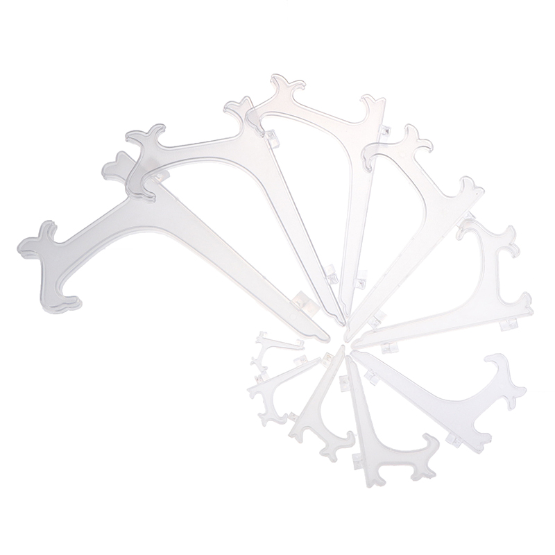 Clear Plastic Easels Or Stand / Plate Holders To Display Pictures Or Other Items At Weddings, Home Decoration, Birthdays, Tables