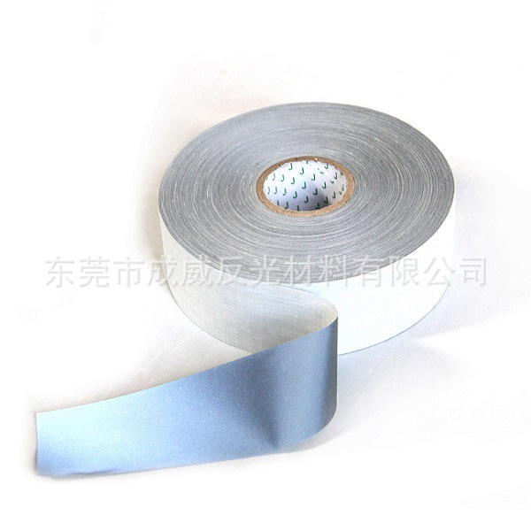 Dongguan Manufacturers Customizable Silver TC Reflective Tape School Uniform Workwear Only Reflective Tape Composite EN471 Stand