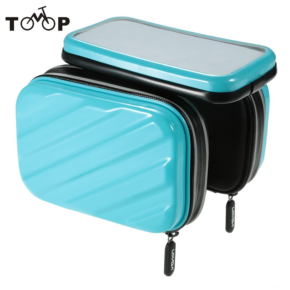 """Hot New  Rainproof Bicycle Front Tube Bag Road Mountain Bike Bags Bicycle Handlebar Mount Holder Case for 5.5"""" Cell Phones"""