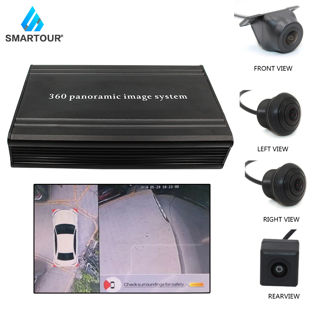 Smartour Car 360 Degree Bird View Surround System Accessories Weivision  Panoramic View All Round View Camera System With DVR