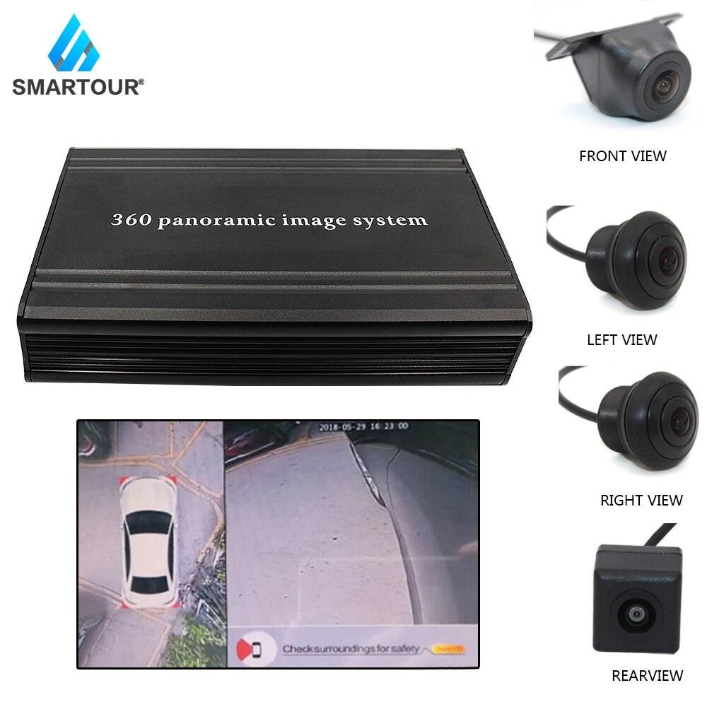 Smartour carro 360 graus vista de pássaro sistema surround acessórios weivision vista panorâmica todo o sistema de câmera de visão redonda com dvr
