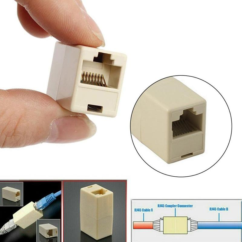 5/10pcs Network Ethernet Lan Cable Joiner Bilateral 8 Pins Coupler Connector RJ45 Computer Netwoerk Connection Adapters
