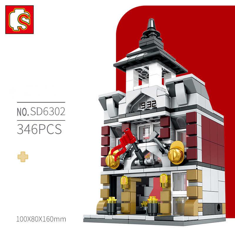 SEMBO BLOCK Jungen Mädchen Bausteine Erleuchten Ziegel Blöcke Sets Große Ziegel Kinder Geschenk Stadt Haus Prinzessin Hüpfburg Spielzeug