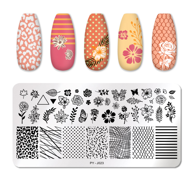 PICT YOU 12*6cm Nail Art Templates Stamping Plate Design Flower Animal Glass Temperature Lace Stamp Templates Plates Image 56