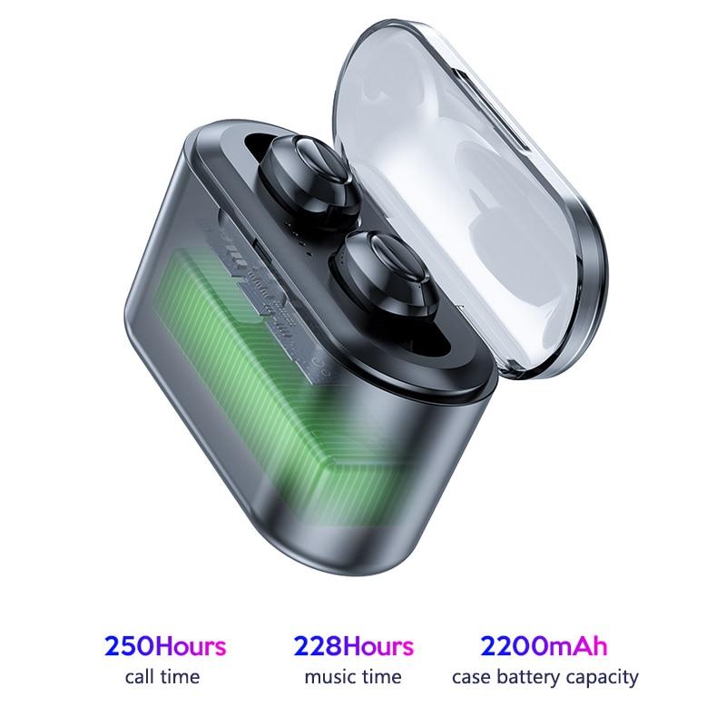 Bluetooth Earphones True Wireless Headphones 5.0 TWS in-Ear Earbuds IPX5 Waterproof Mini Headset 3D Stereo Sound Sport Earpiece (4)