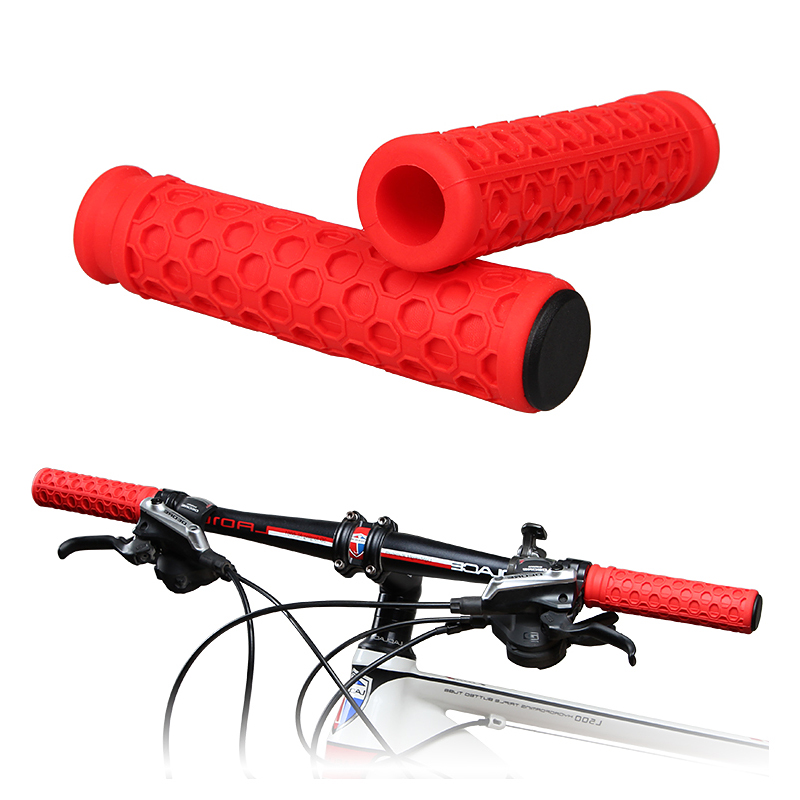 1 Pair Bicycle Mountain Bike Handlebar Grips Hollow Breathable Lock On Bar Grip
