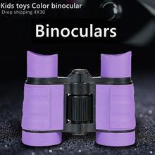 Пластиковый Детский бинокль hobbylane 4x30 телескоп волнификация