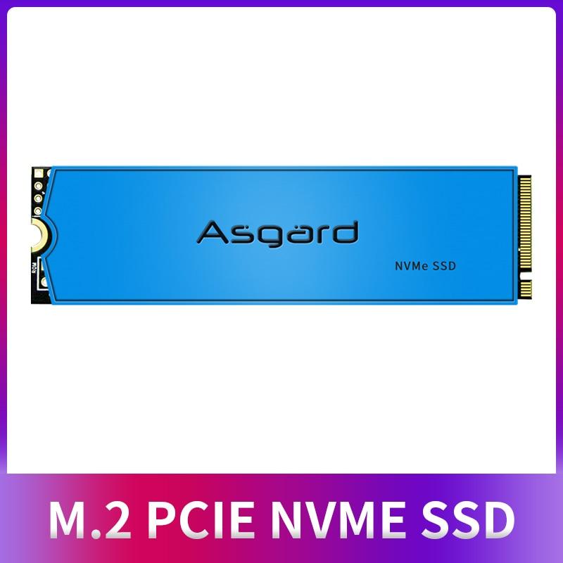 Asgard M.2 ssd M2 PCIe NVME 500 Гб 1 ТБ 2 ТБ твердотельный накопитель 2280 внутренний жесткий диск для ноутбука с Кэш-памятью