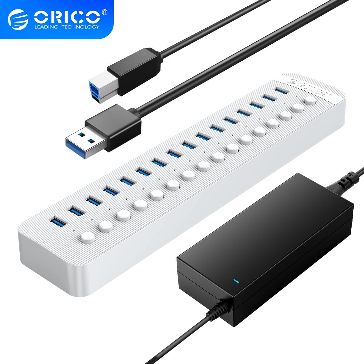 USB-Концентратор ORICO на 16 портов и блок питания на 12 В/3,0 А