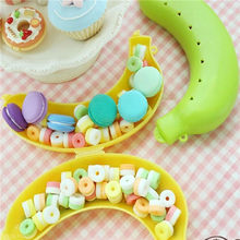 New Qualified Cute 3 Colors Fruit Banana Protector Box Holder Case Lunch Container Storage Box for kids protect fruit case cue(China)