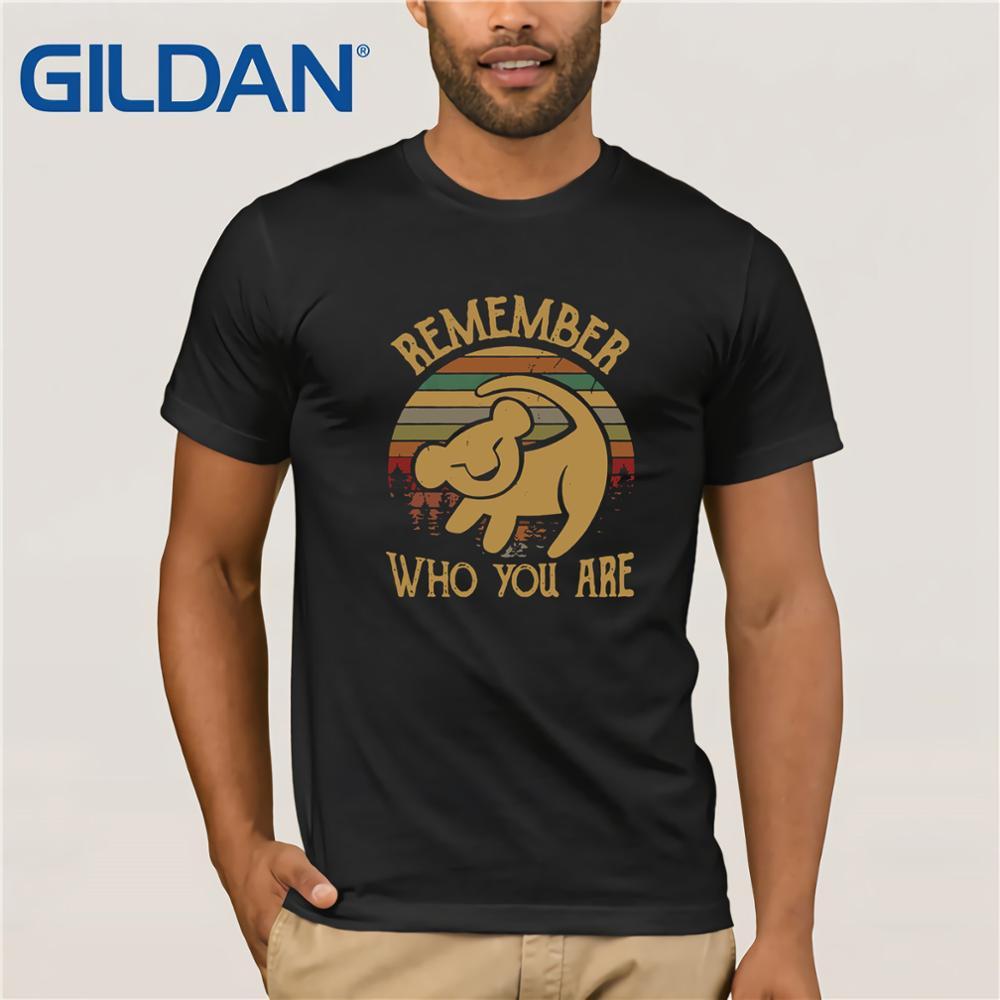 Gildan marque Lion King rappelez-vous qui vous êtes T-Shirt Vintage T-Shirt homme manches courtes