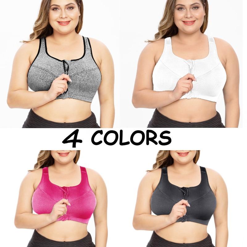 SEXYWG Plus Size Sports Top Yoga Bras Women Seamless Underwear Shockproof Gym Shirt Crop Vest Running Bra Bh Push Up Bra M-5XL (6)
