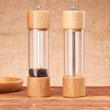 Salt Pepper Grinder Wood Seasoning Kitchen-Tools Spice Manual Household Home BBQ