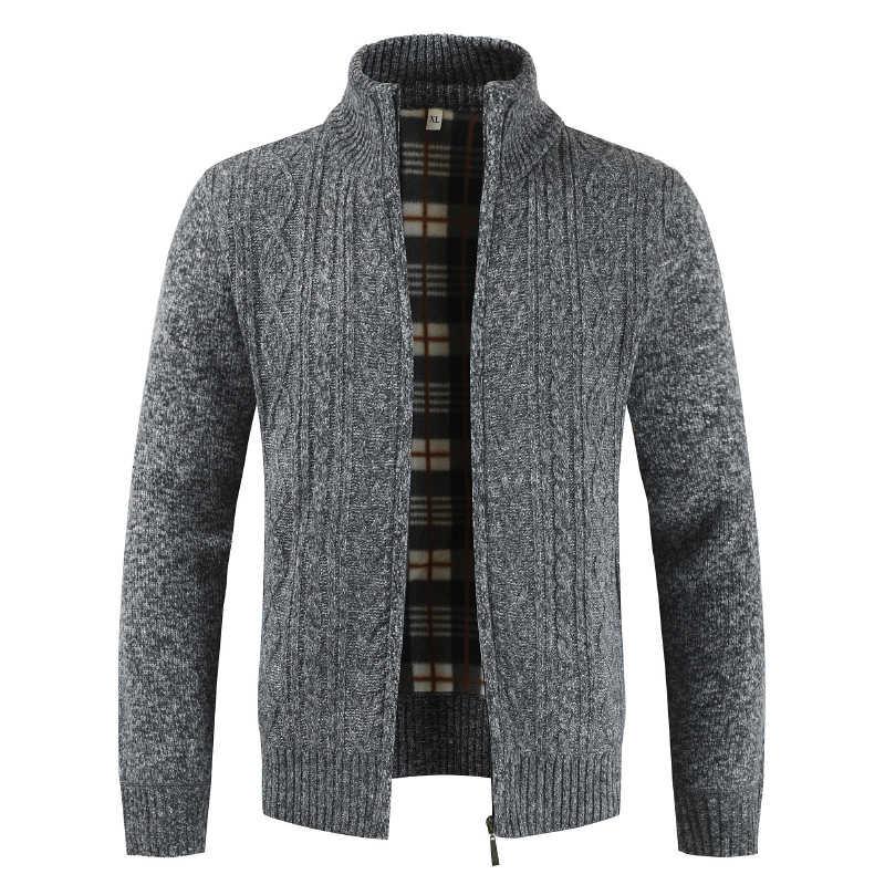 Sweter z dzianiny sweter mężczyzn 2019 zima marki grube ciepłe kaszmirowe swetry Zipper męski sweter mężczyzna dzianina casualowa męskie ubrania