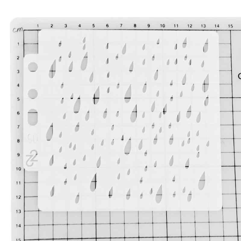 DIY البسكويت القهوة رذاذ العفن سكرابوكينغ الكتابة على الجدران العفن كعكة أداة زخرفة نطاق التطبيق قدح برسم يدوي جدار