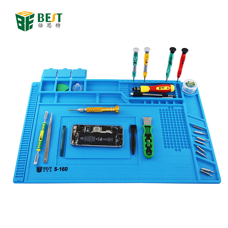 With Magnetic High-temperature Resistant Maintenance Workbench Insulation Pad Wind Gun Soldering Iron Heat Resistant Mobile Phon image