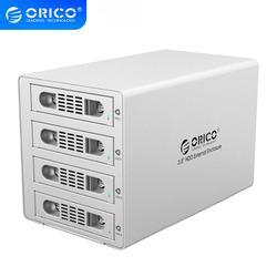 ORICO 3549RUS3 herramienta libre de aluminio 4 Bahía 3,5 SATA2.0 USB3.0 y eSATA HDD Función de estación de acoplamiento externo RAID 4*8TB Funda de disco duro